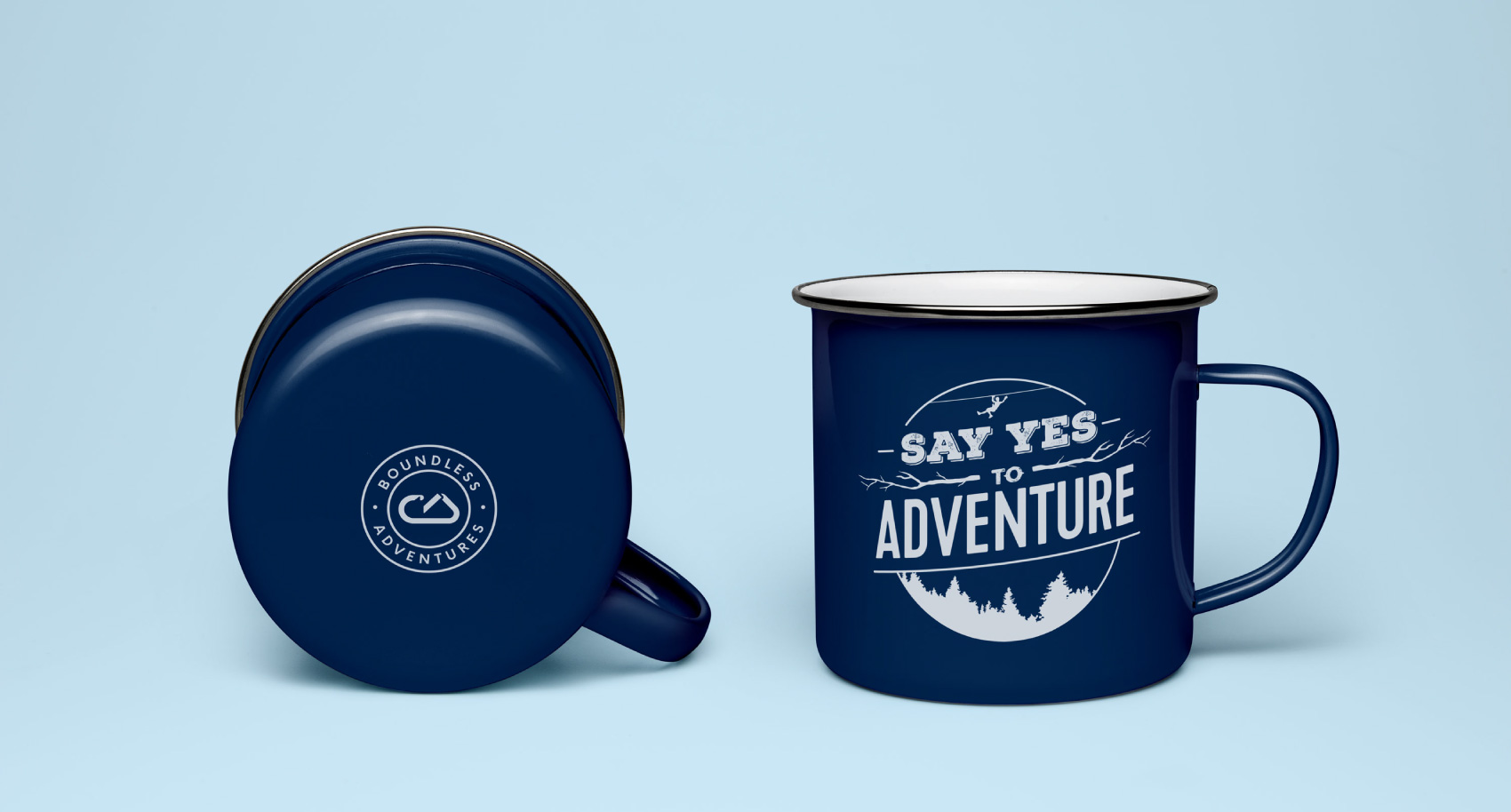 Merch (coffee cup) design for Boundless Adventures