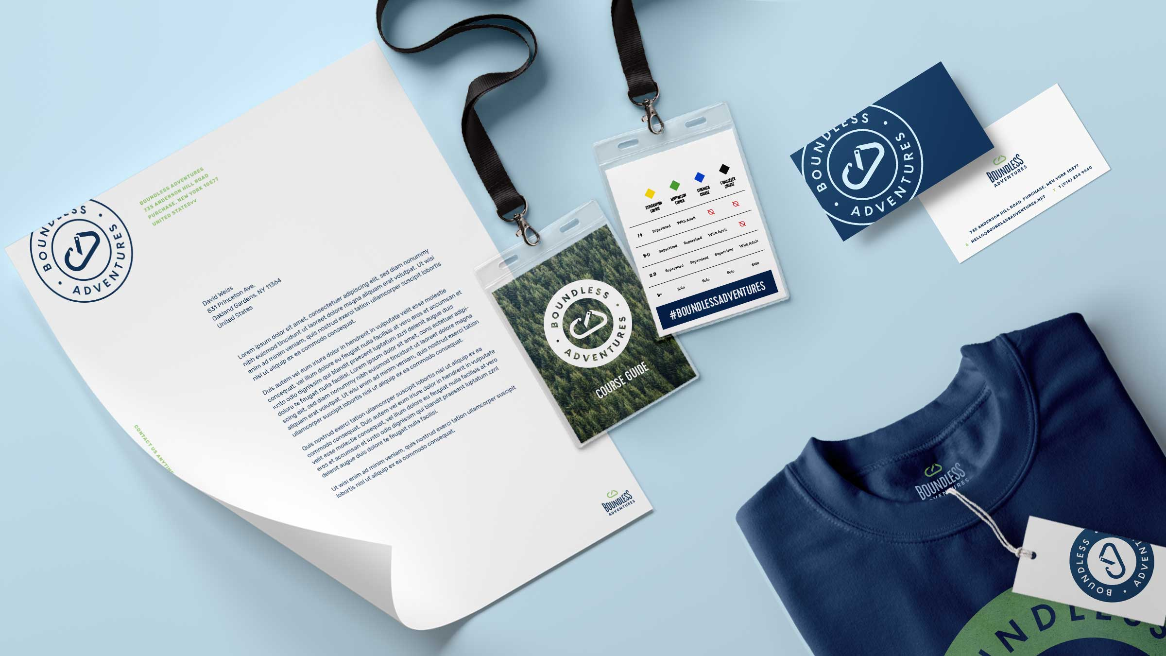 Print collateral design for Boundless Adventures
