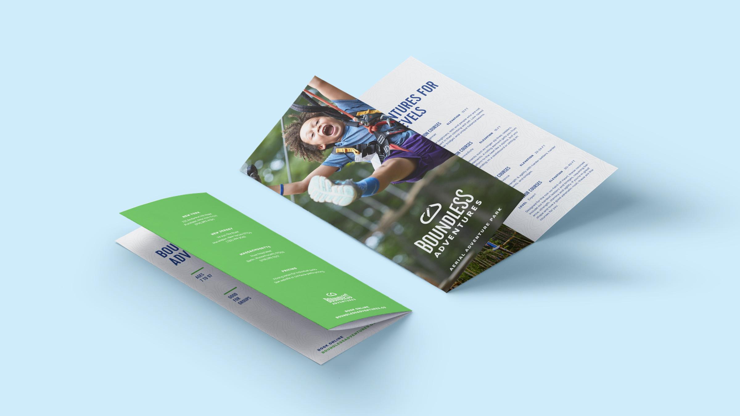 Brochure Design Boundless Adentures