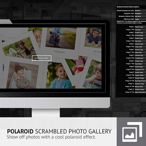 Polaroid Scrambled Photo Gallery