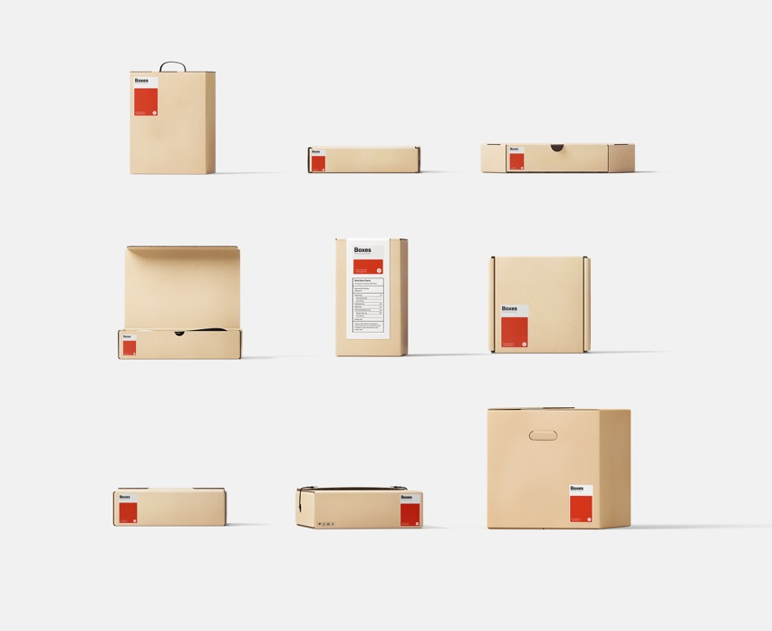 Kraft boxes mockups