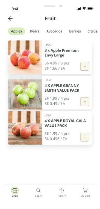 apples category page screenshot