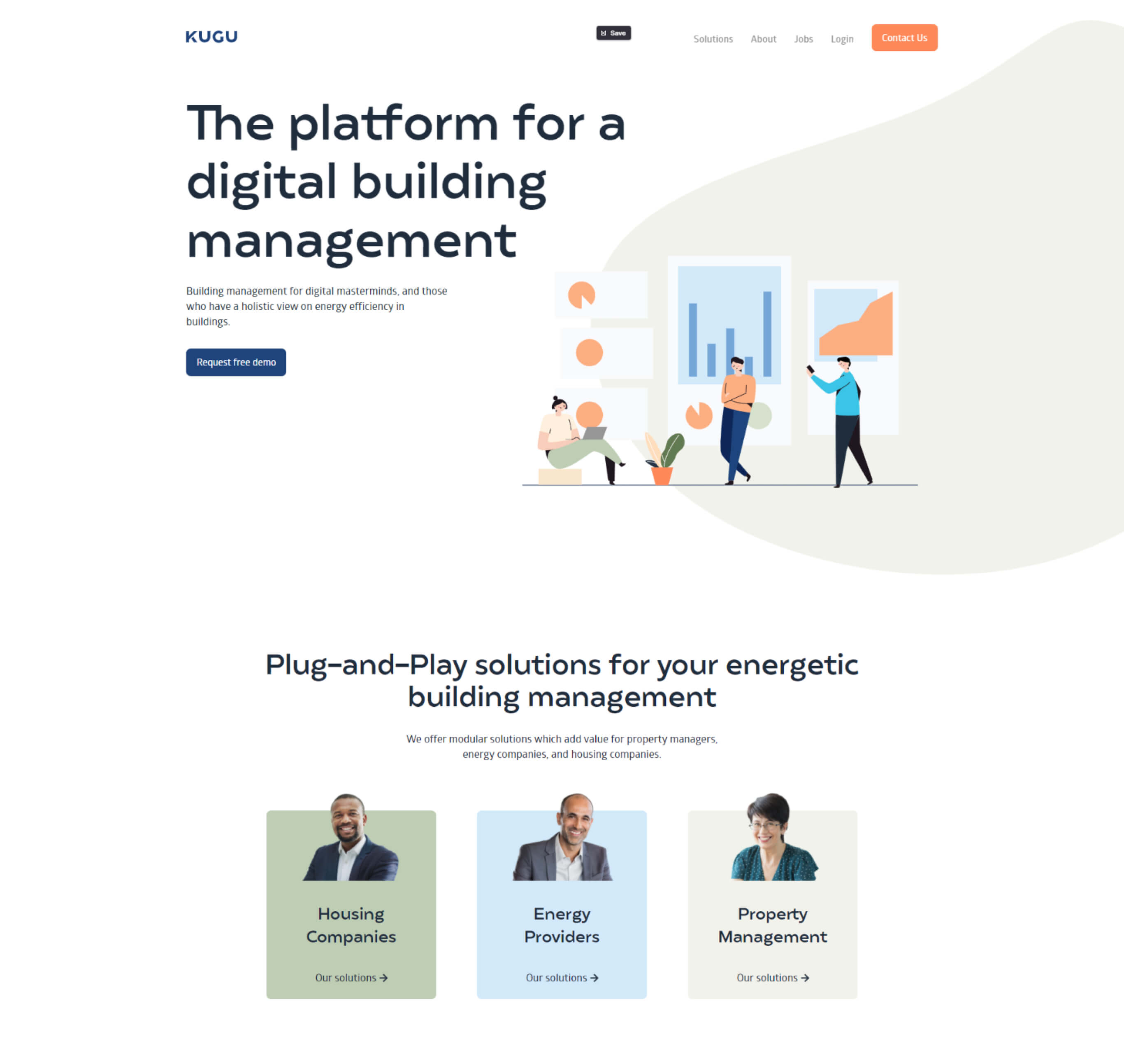 Kugu homepage screenshot