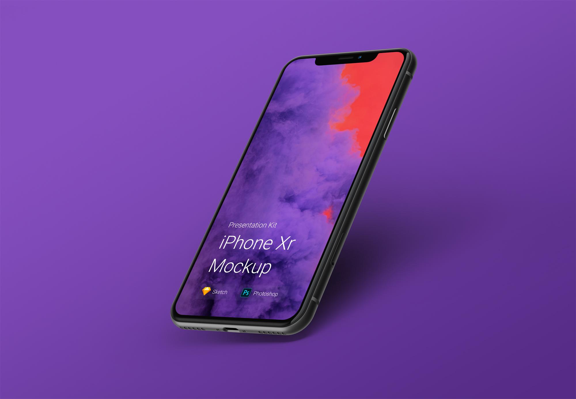 Free  iPhone Xr Mockup
