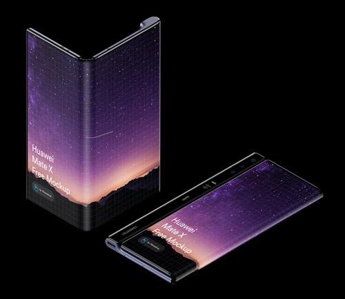 Free Huawei Mate X Phone (Fold) Mockup