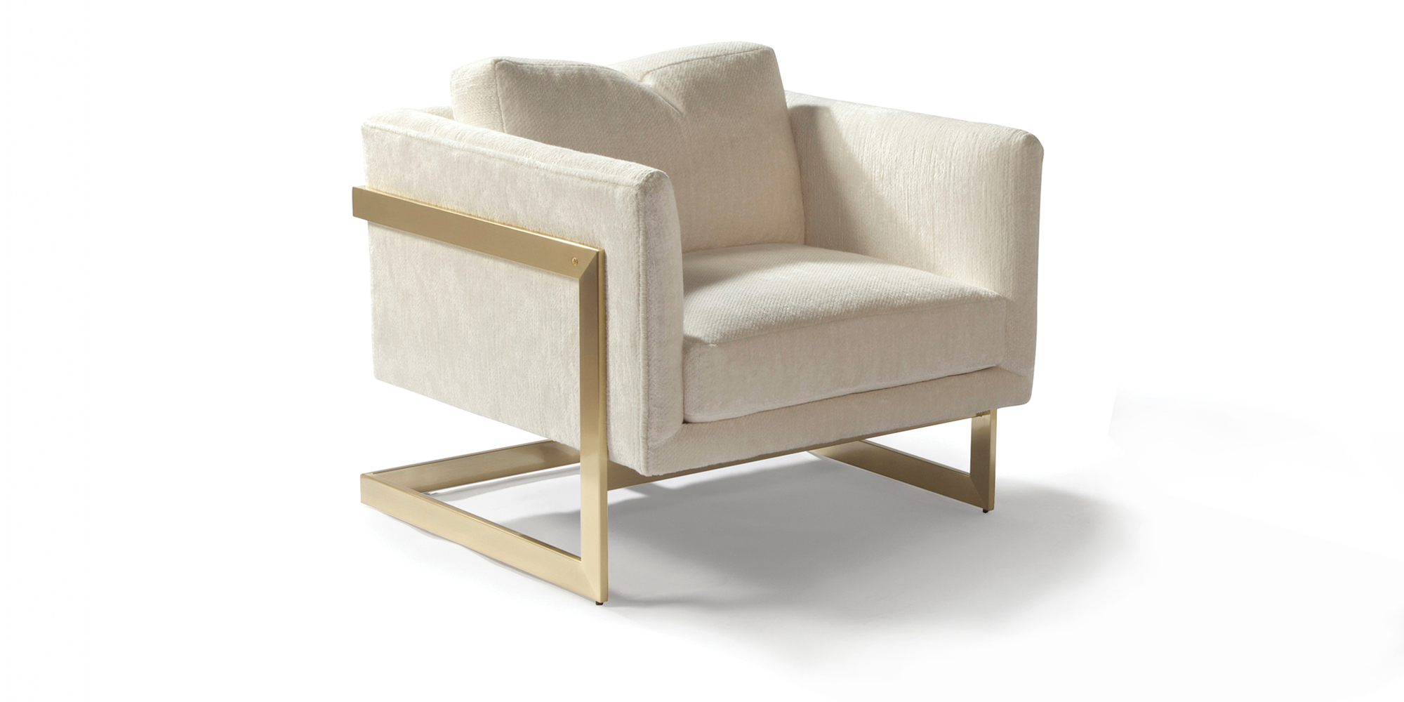 989 Design Classic Lounge Chair (Satin Brass)