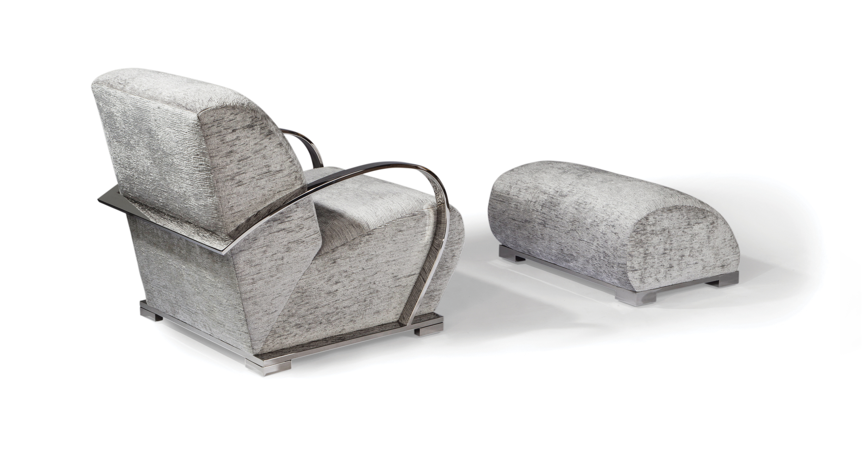 Streamliner Chair and Ottoman