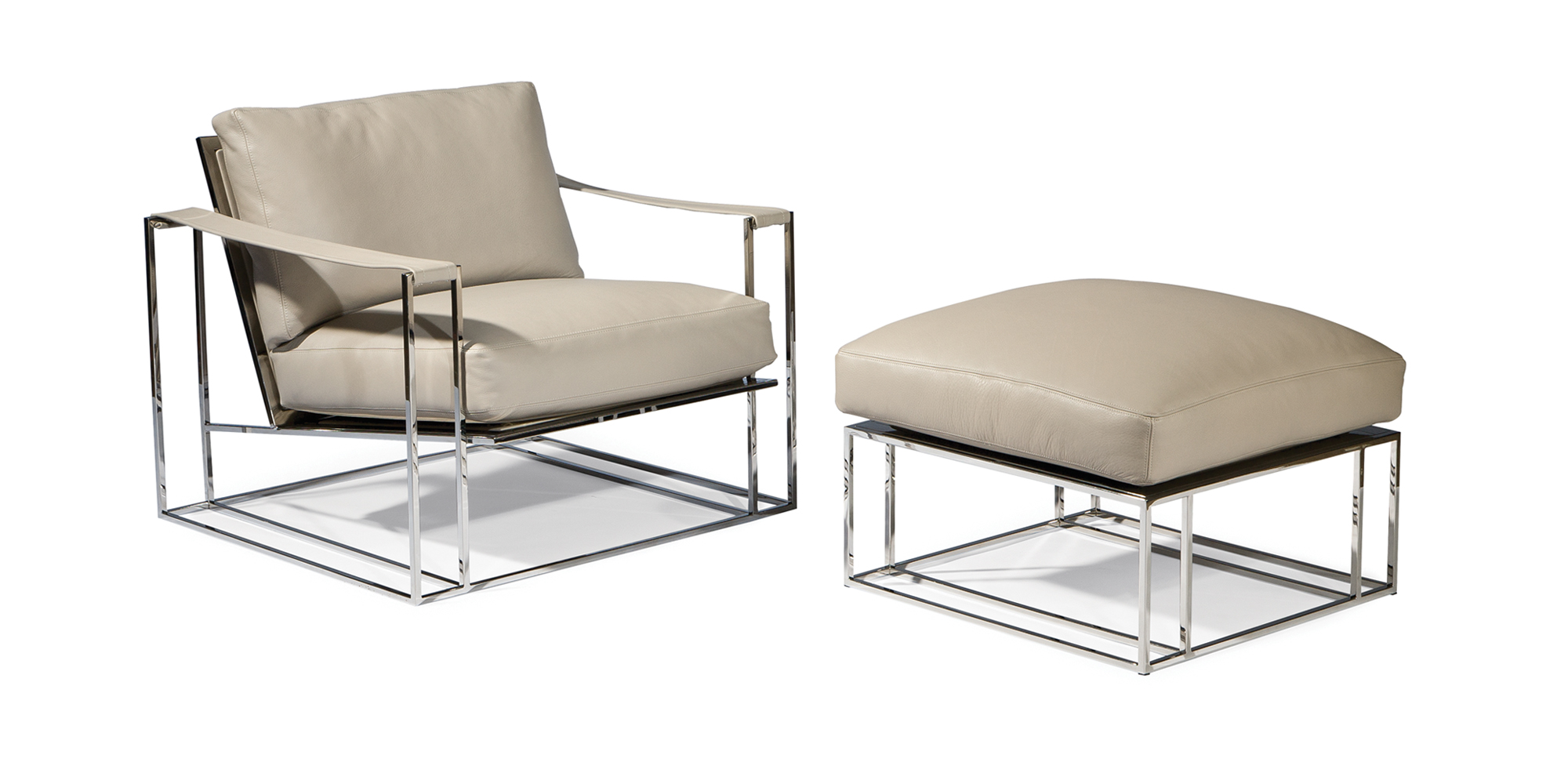 Sling Chair and Ottoman