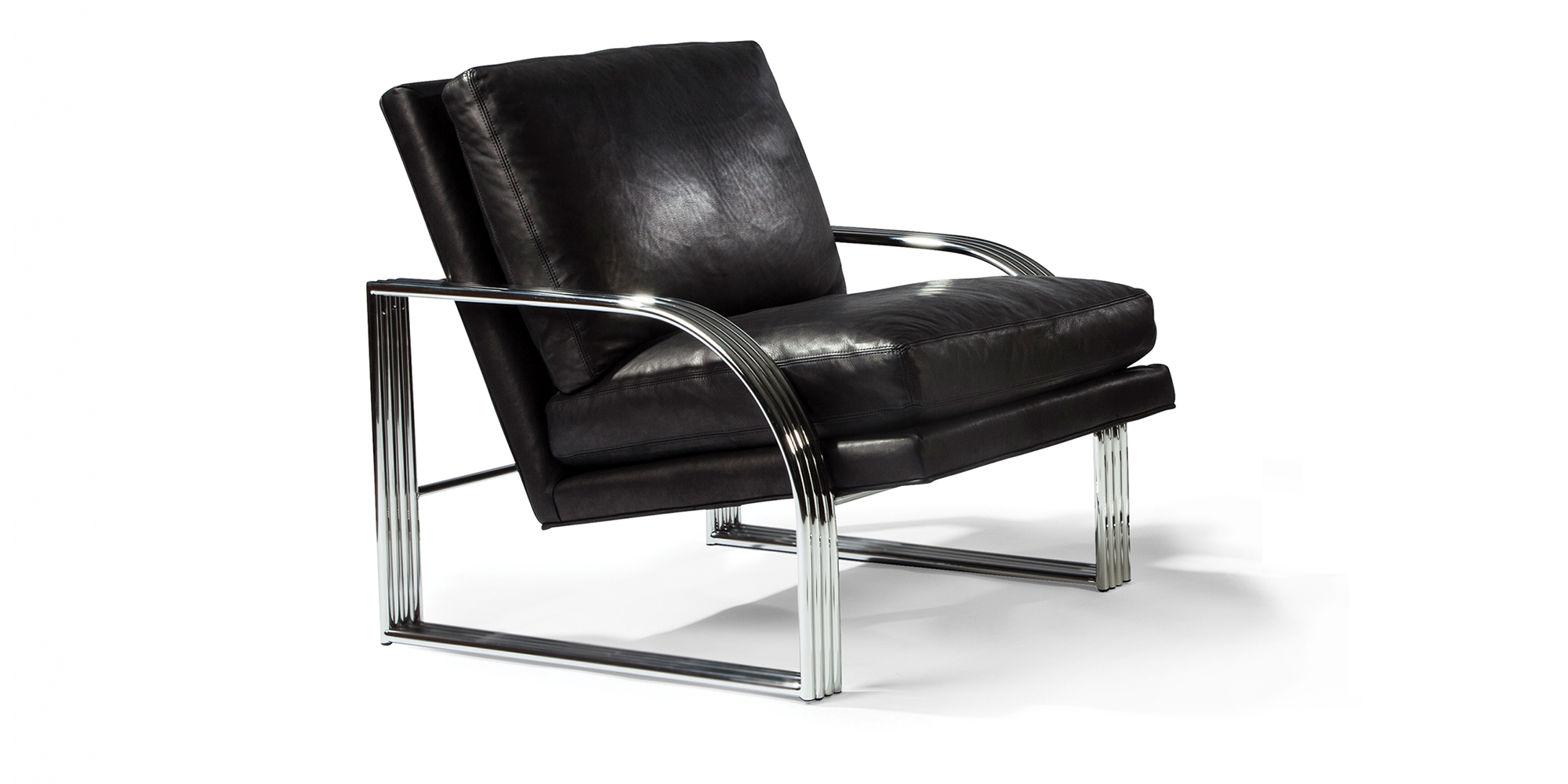 Reynolds Lounge Chair (Stainless Steel)