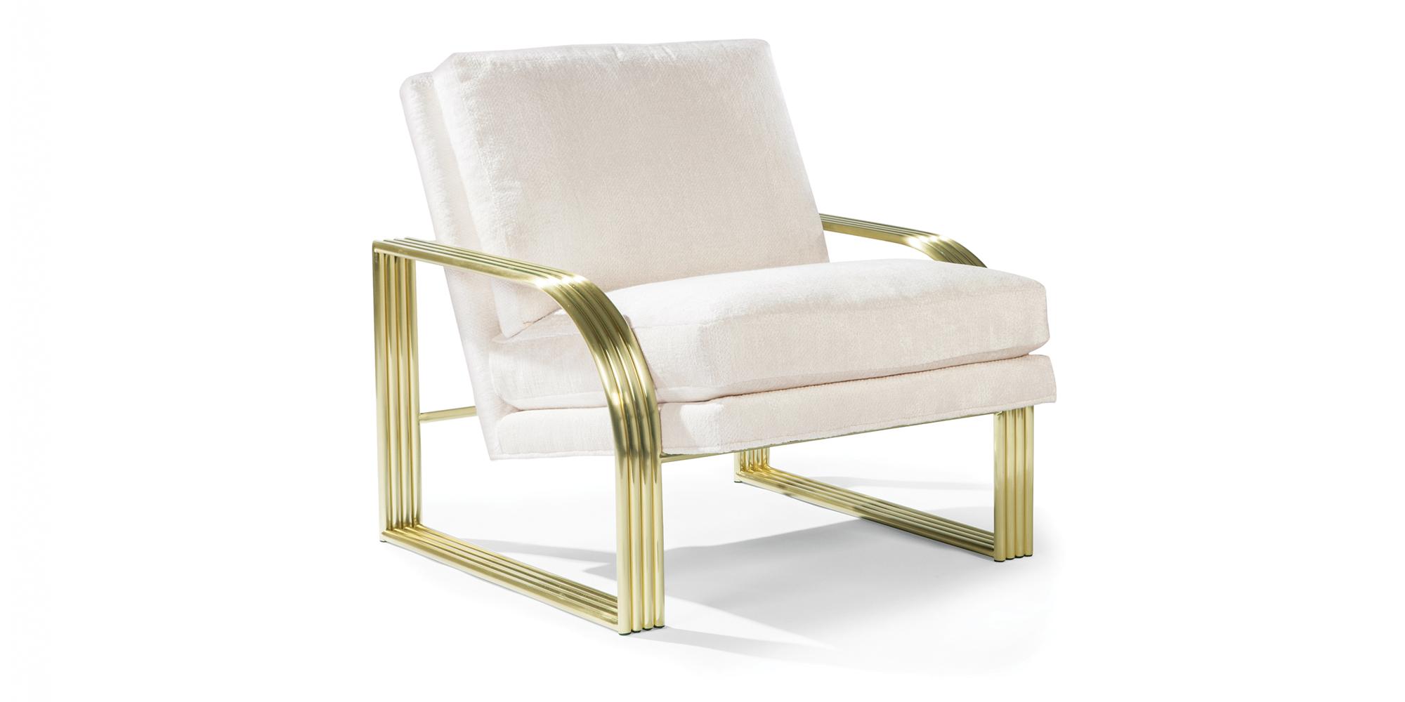 Reynolds Lounge Chair (Satin Brass)