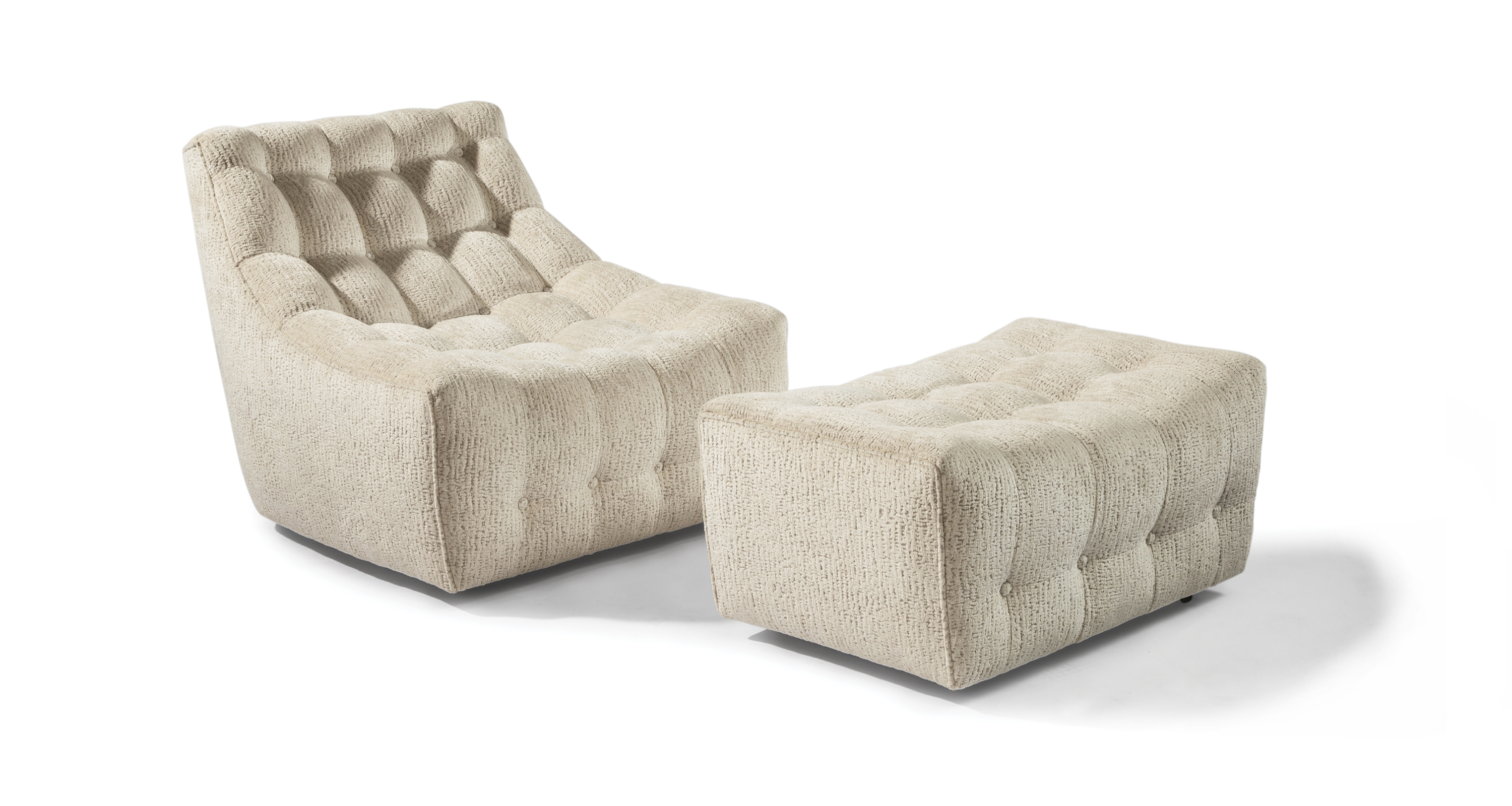 Tommy Tufted Chair and Ottoman