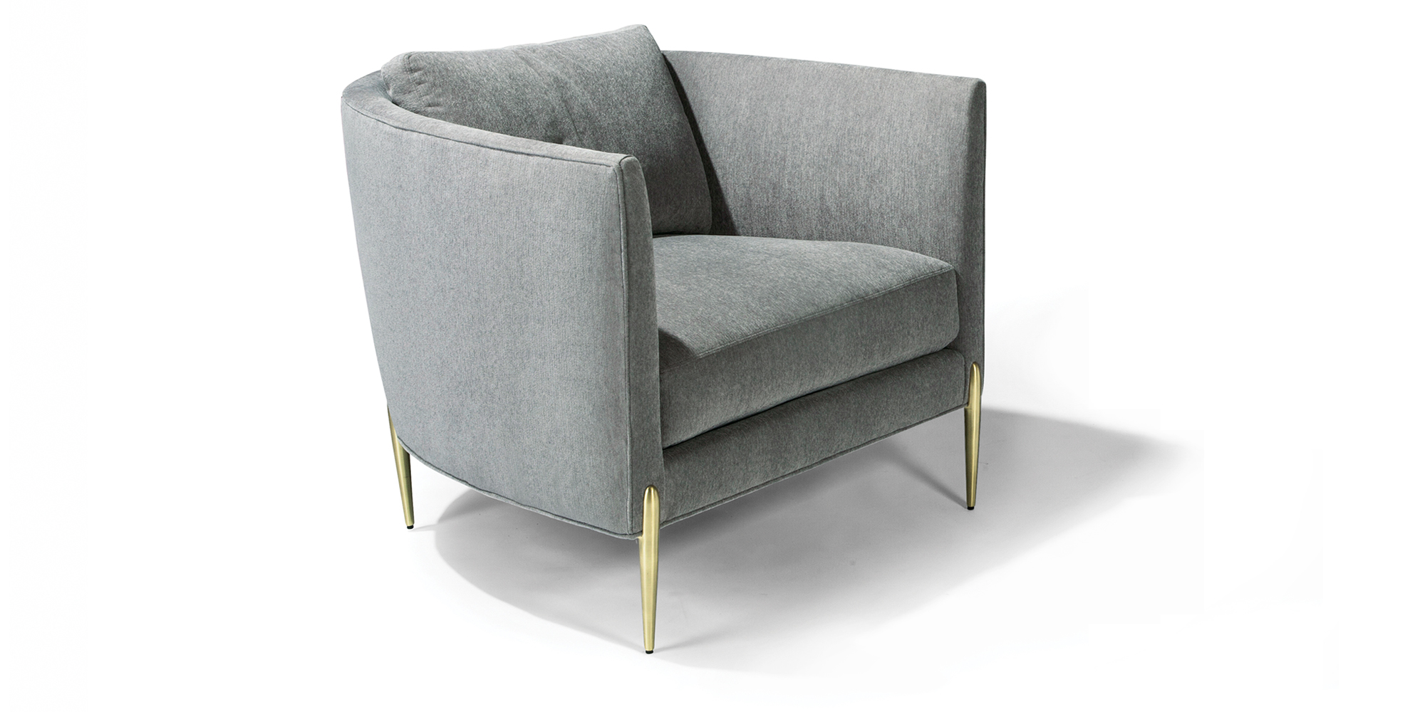 Decked Out Lounge Chair (Satin Brass)