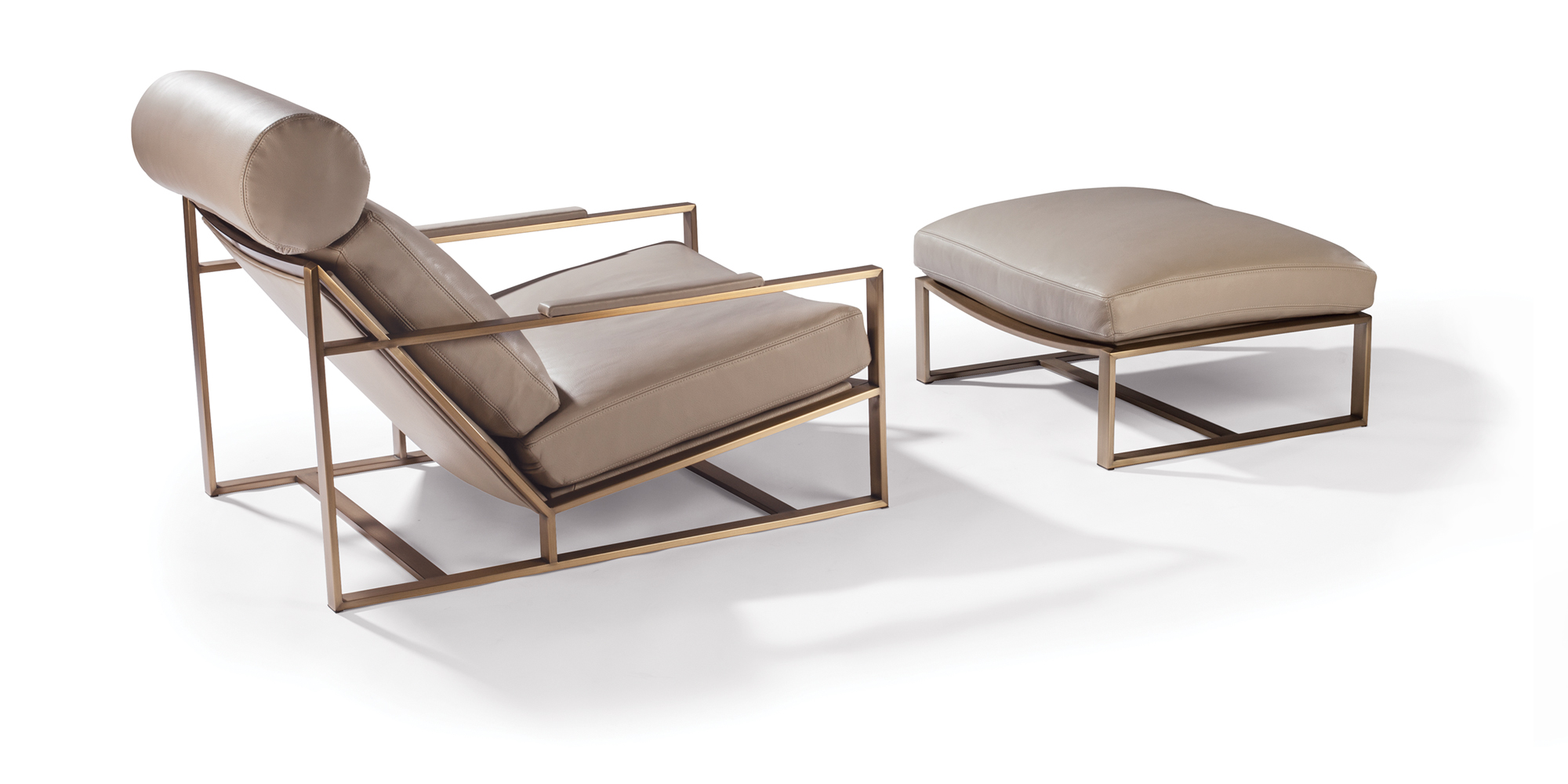 Cruisin' Lounge Chair and Ottoman (Brushed Bronze)