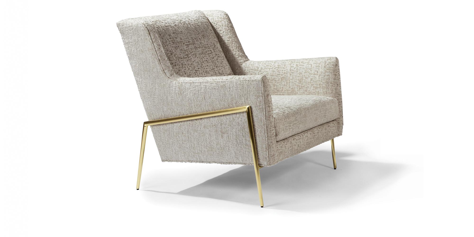 Twiggy Lounge Chair (Satin Brass)