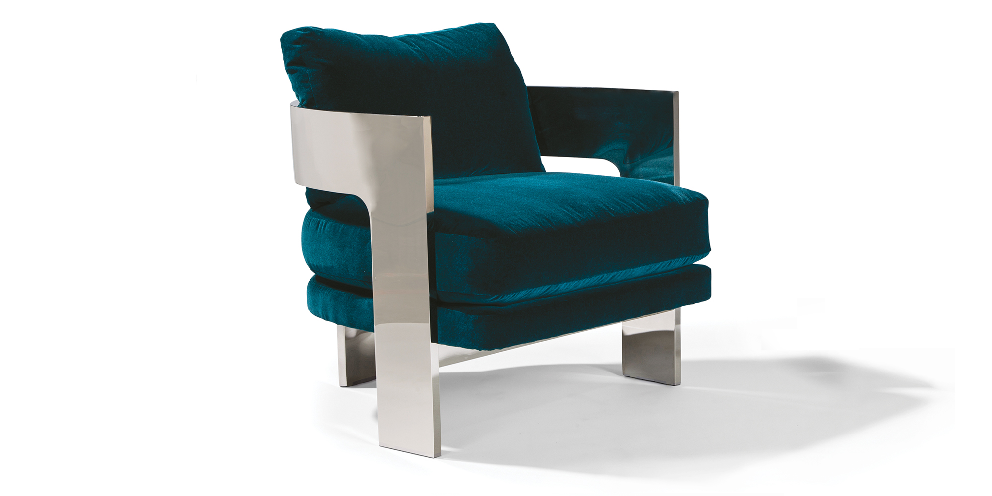 On 3 Lounge Chair (Polished Stainless)