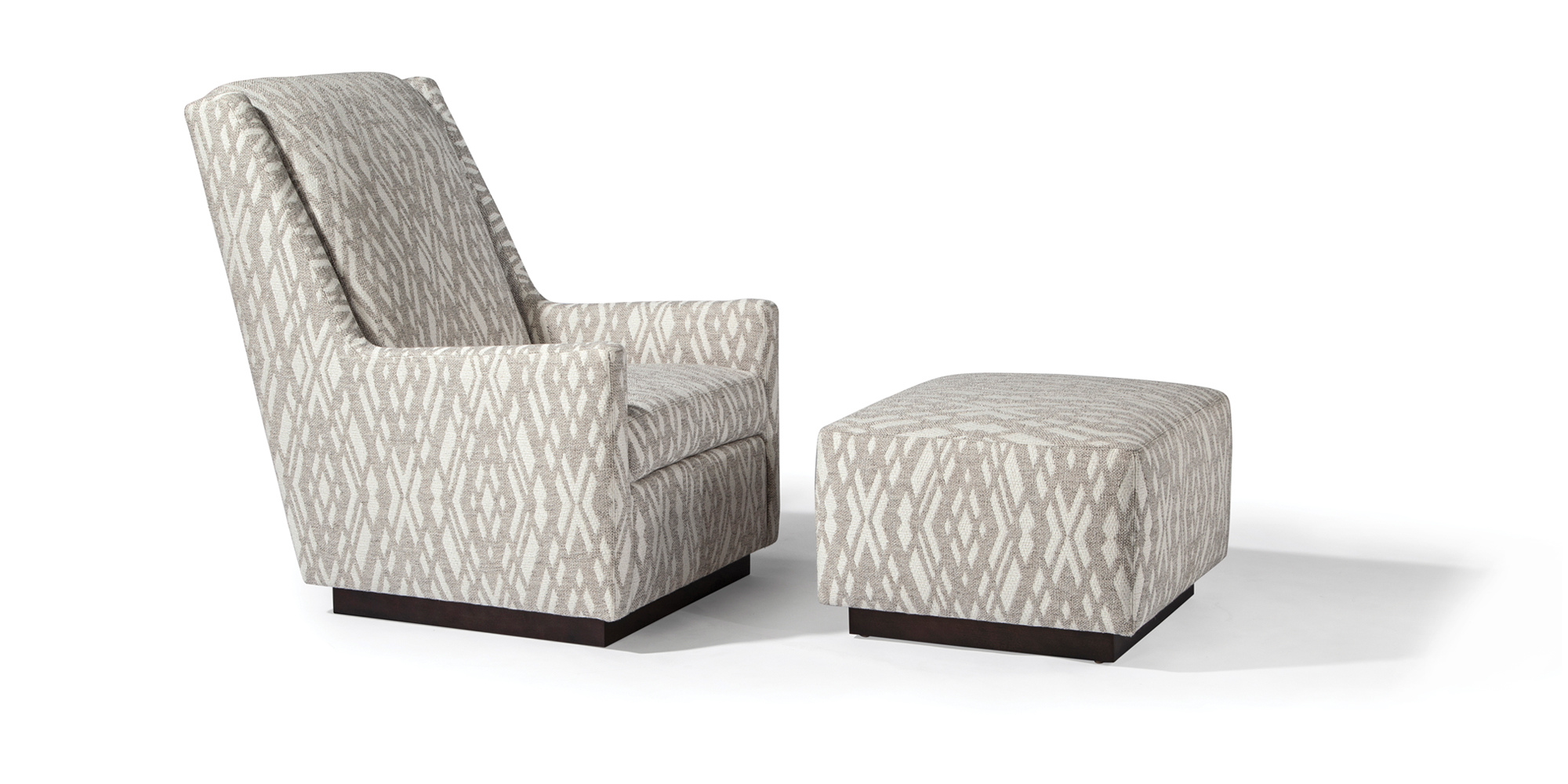 Clarence Chair and Ottoman