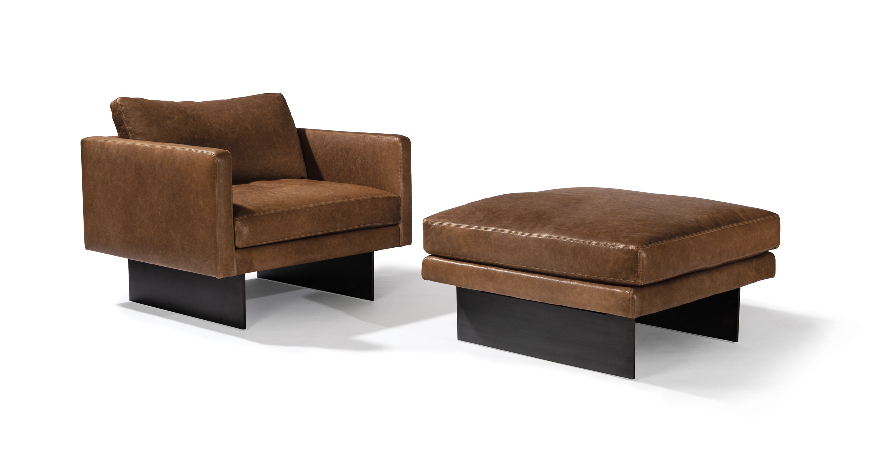 Blade Lounge Chair and Ottoman