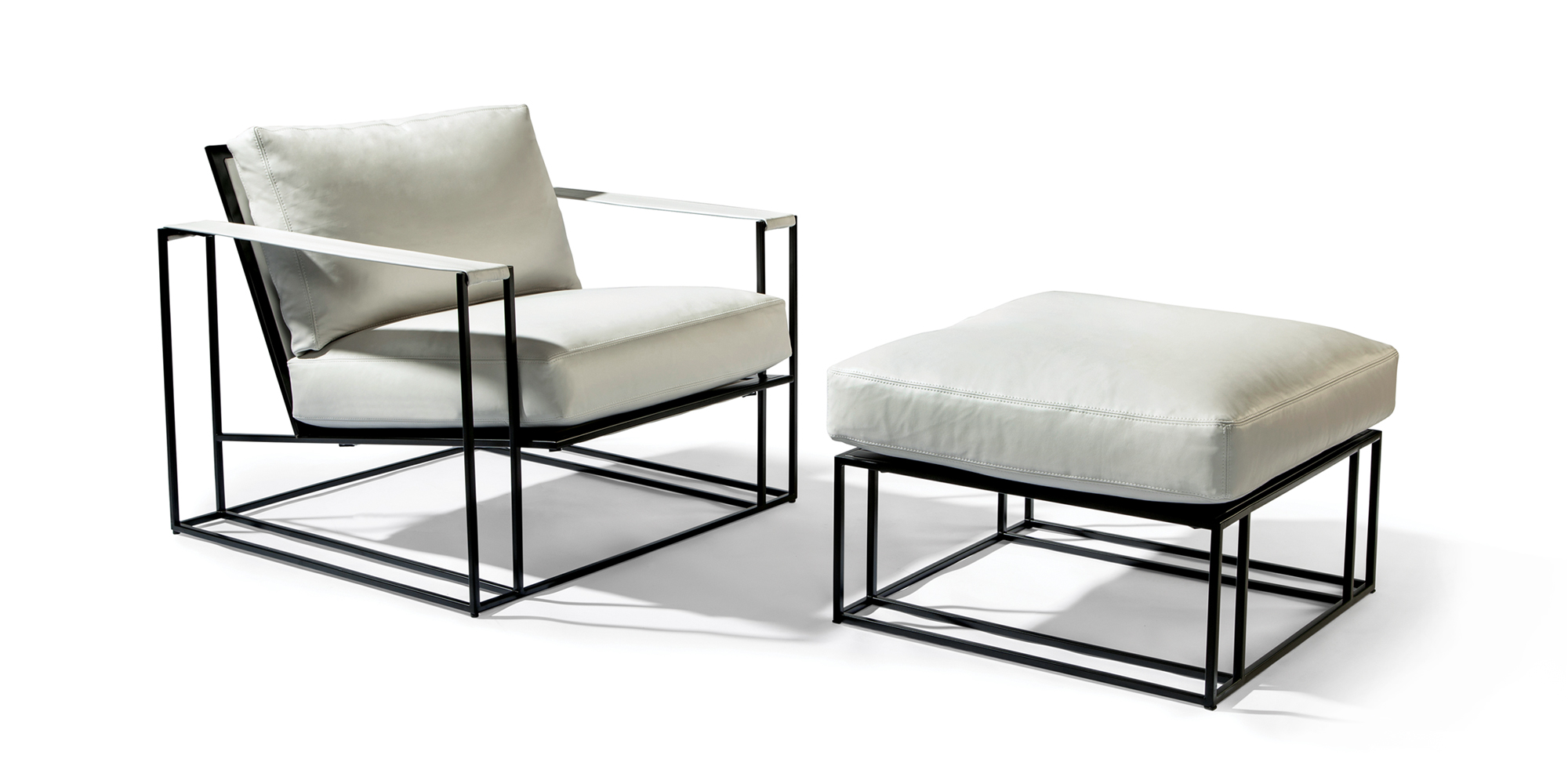 Sling Chair and Ottoman (Noir Finish)
