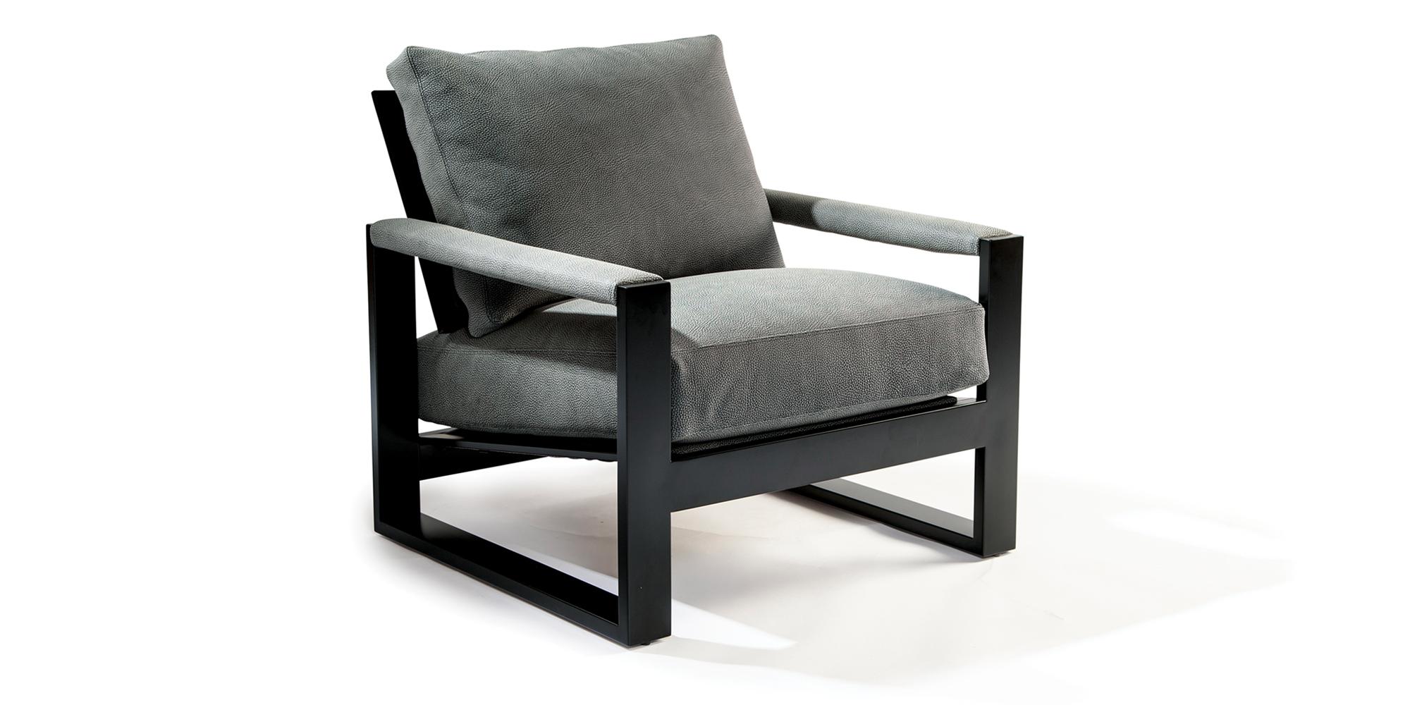Chunky Milo Lounge Chair (Noir finish)