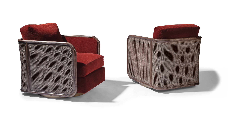 Reed Swivel Lounge Chair