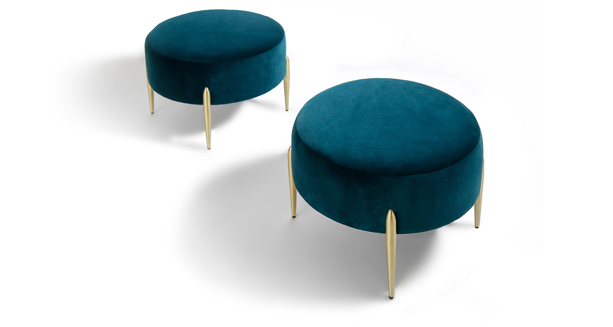 Decked Out Small Round Ottoman