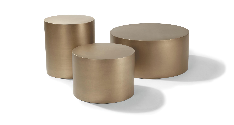Sandblast Bronze Drum Tables