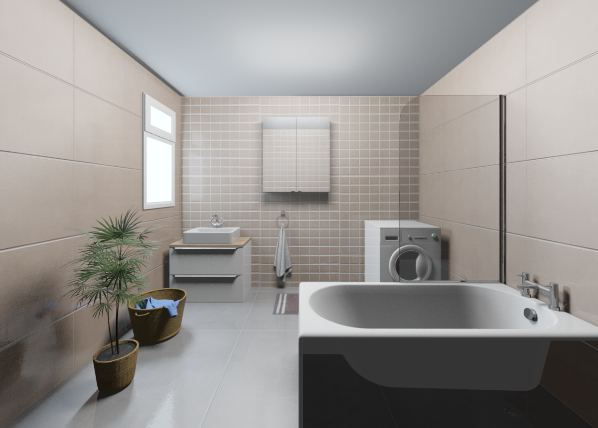 An example bathroom in Chroma
