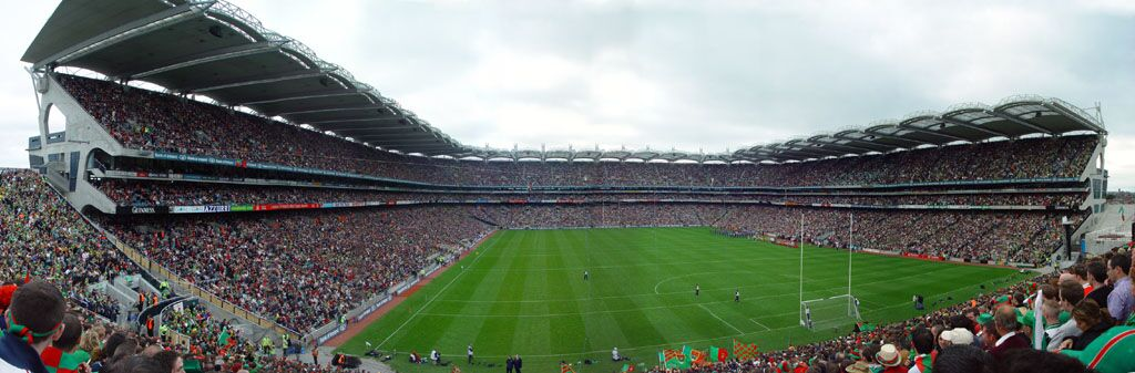 Croke Park during a Gaelic football match. Not this many people attended the conference!
