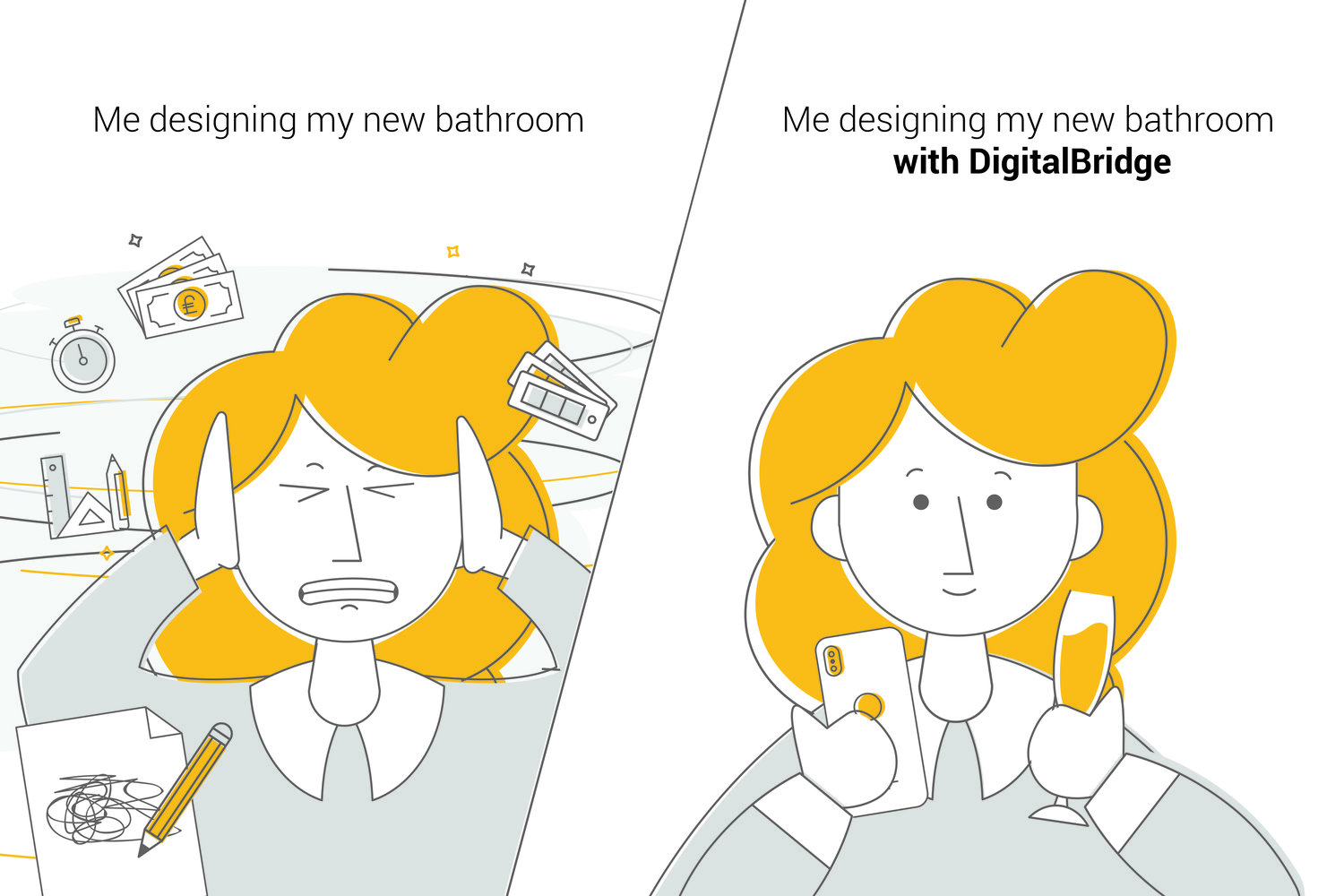 DigitalBridge reduces the friction and unknowns that occur during a kitchen or bathroom design process