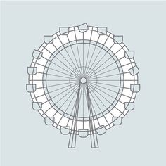 ferris wheel illustration caitlin hottinger