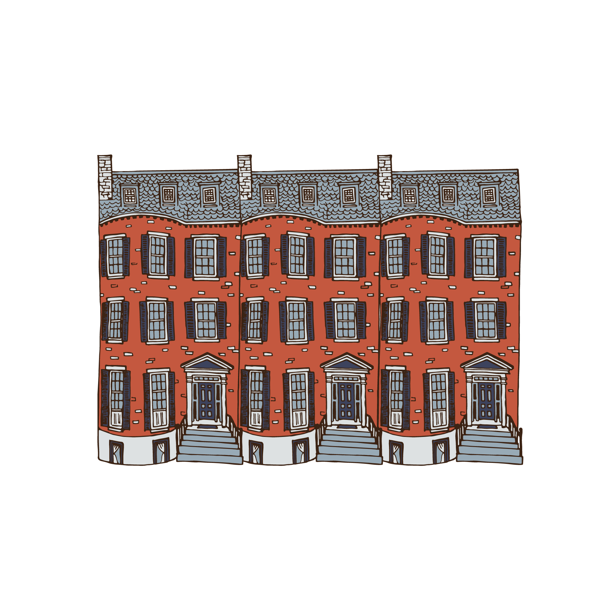 Beacon Hill Illustration by Caitlin Hottinger