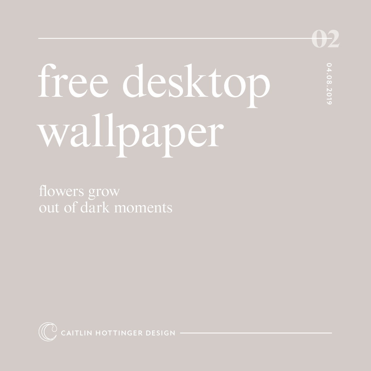 Free desktop wallpaper design by caitlin hottinger
