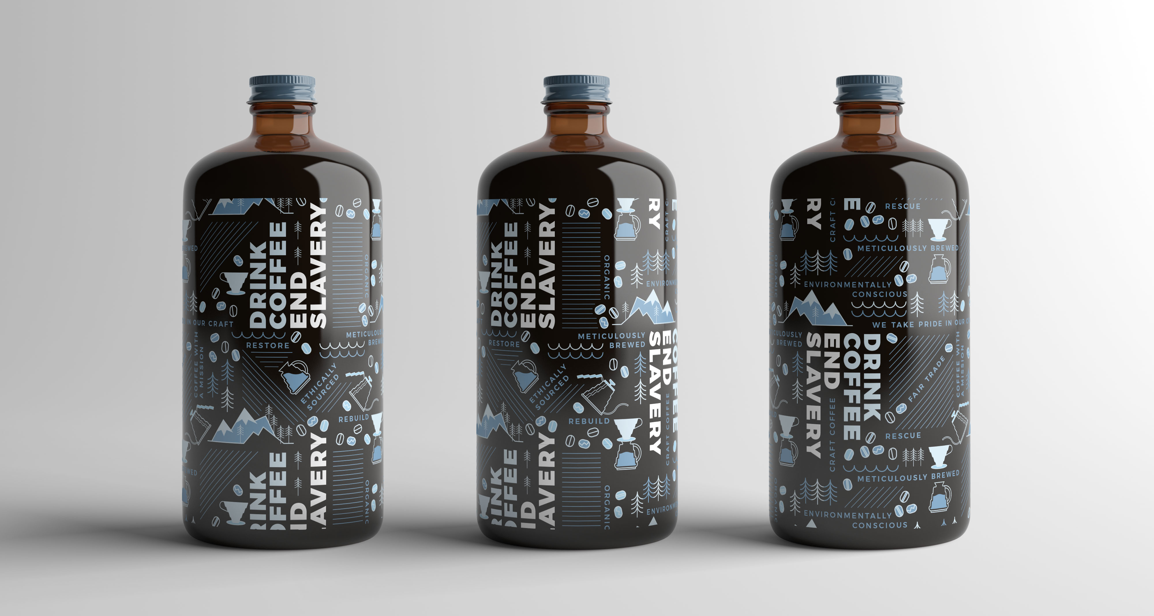 cold brew coffee pattern design branding by Caitlin Hottinger