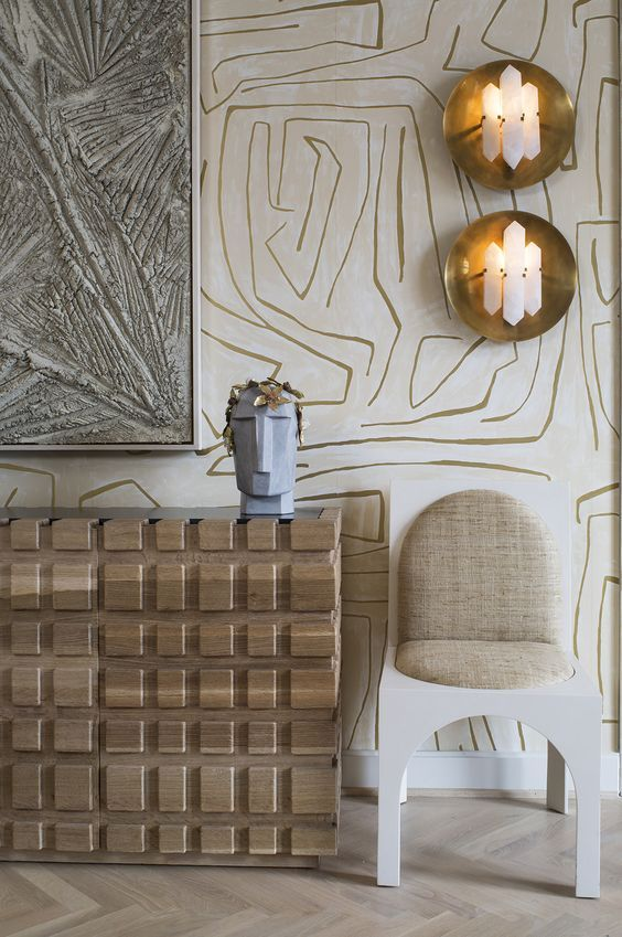 6 statement wallpaper trends you need to know about...and not a palm print in sight! — Gold is a Neutral