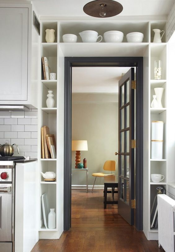 If you live in a little apartment (or house) and are lucky enough to own your place (or have a landlord who's quite lenient) built ins can be a real lifesaver. Clever built ins are a great way to incorporate storage, and other functionalities, without the cumbersomeness of furniture, and they're a great way to really get the most of of of your space. Here are 13 clever ideas for built ins that will help you make the best of your small space.