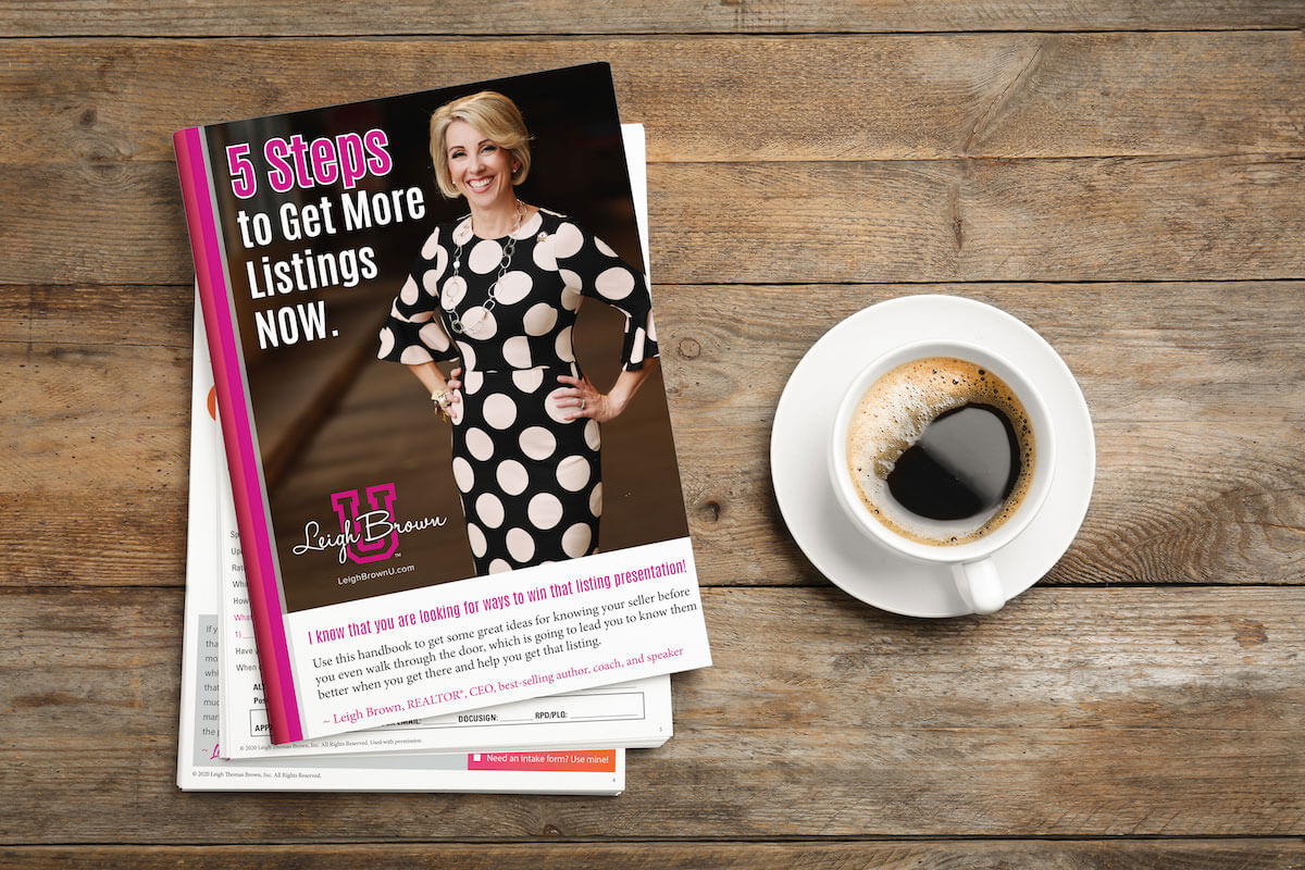 Leigh brown 5 steps to get more listings now