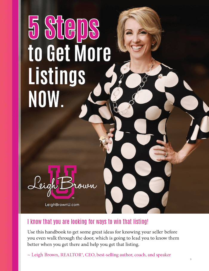 leigh brown: 5 steps to get more listings image