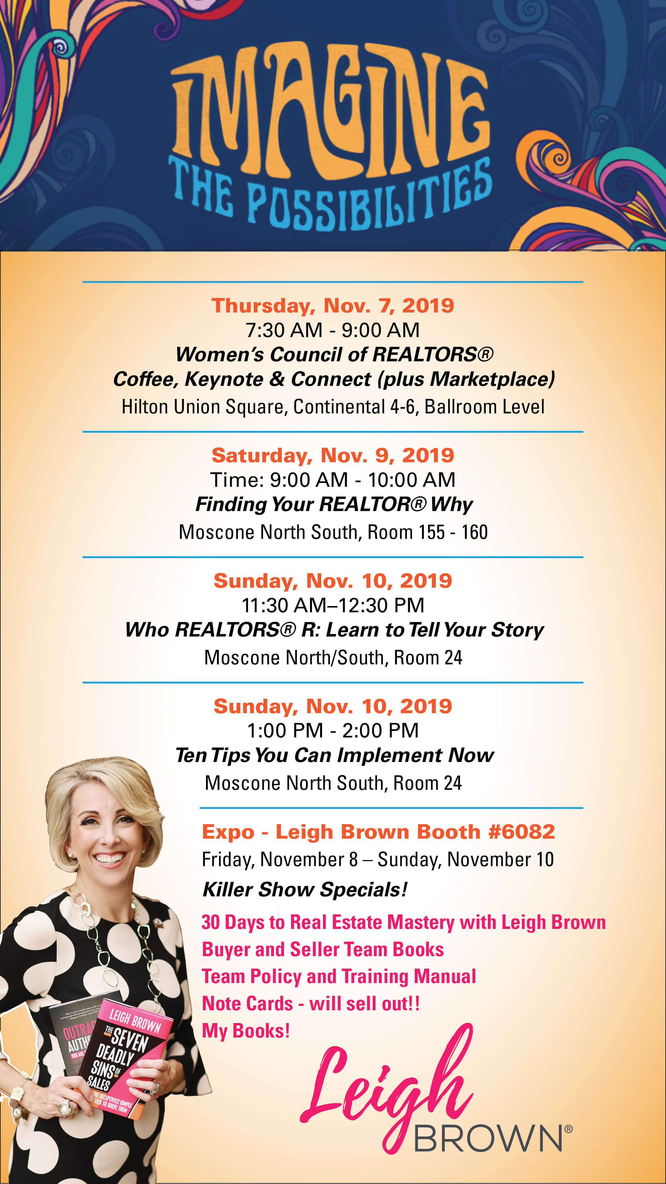 Find Leigh Brown at NAR Schedule