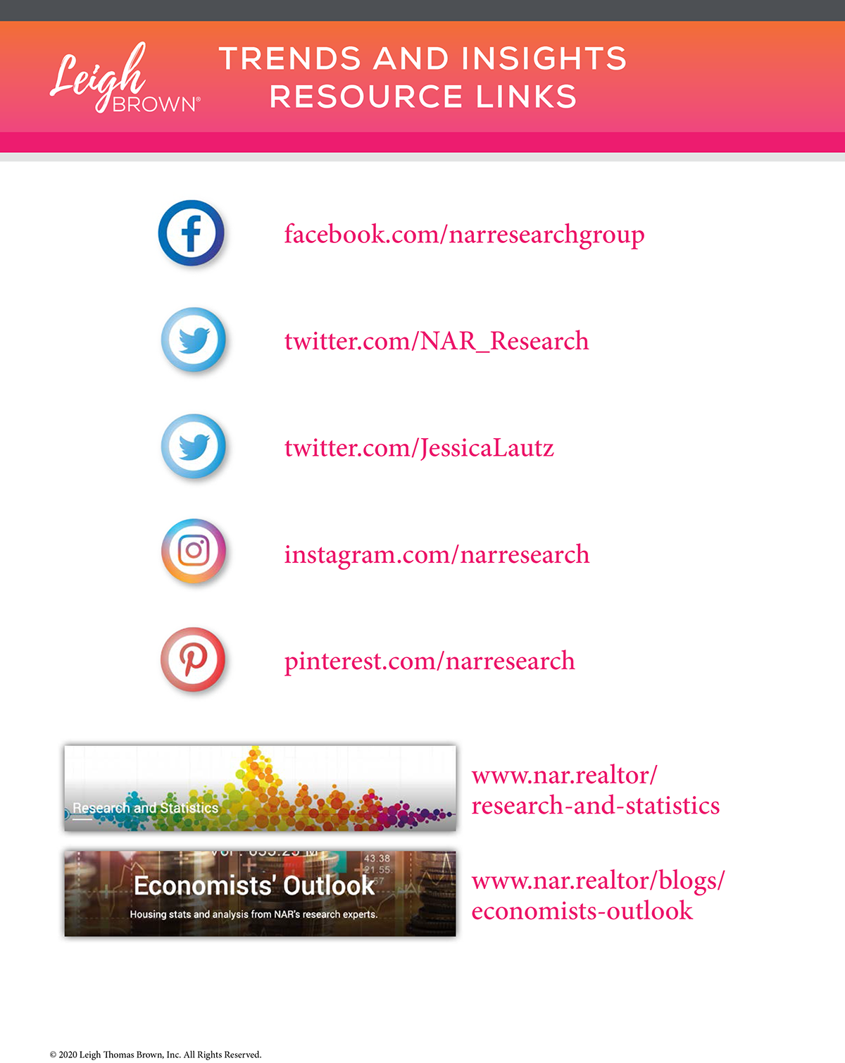 2021 Trends and Insights Resource Links