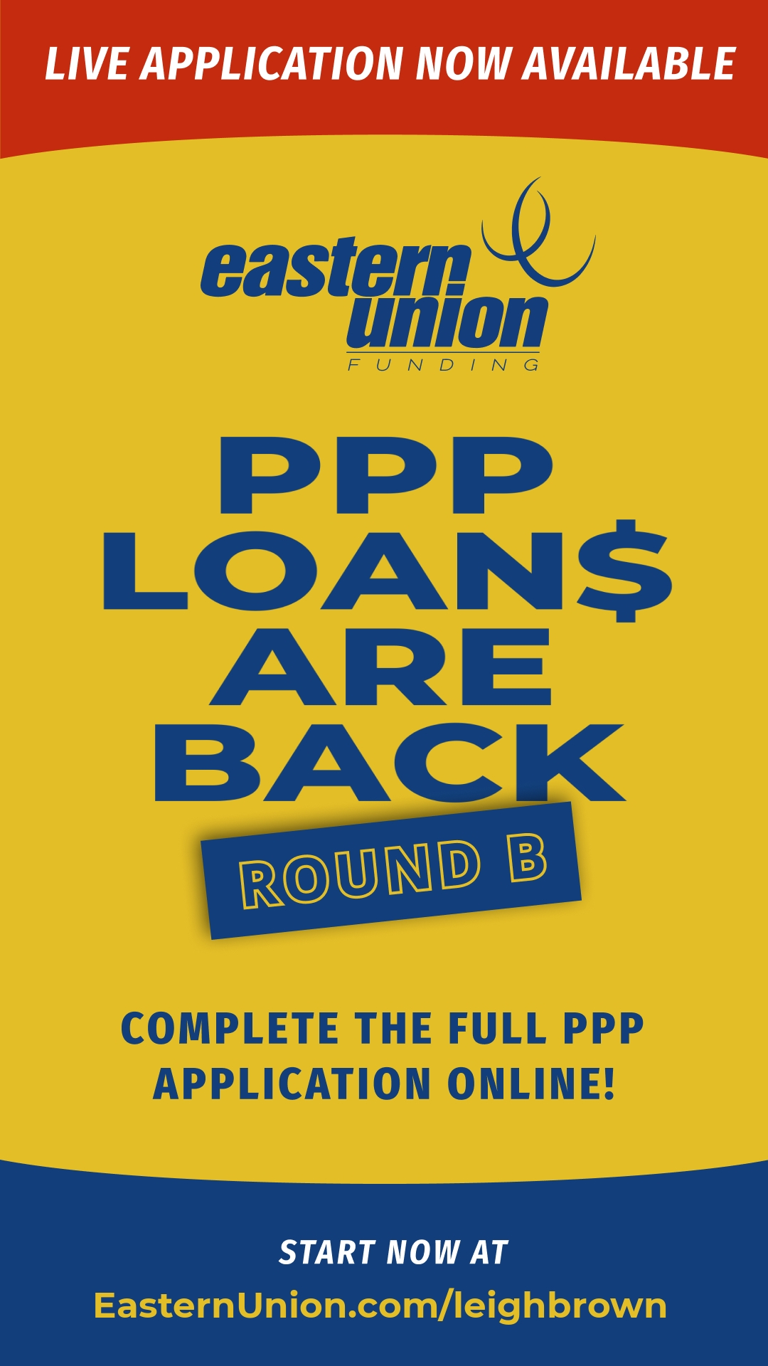PPP Loans Round B Application with Eastern Union