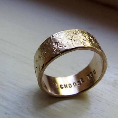 secret custom wedding ring engagements