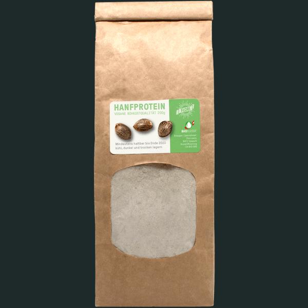 Biologisches Hanfsamenmehl aus Speisehanf, produziert in der Schweiz.