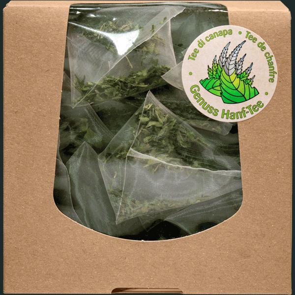 Cannabistee / Hanftee aus Schweizer Bio Produktion.