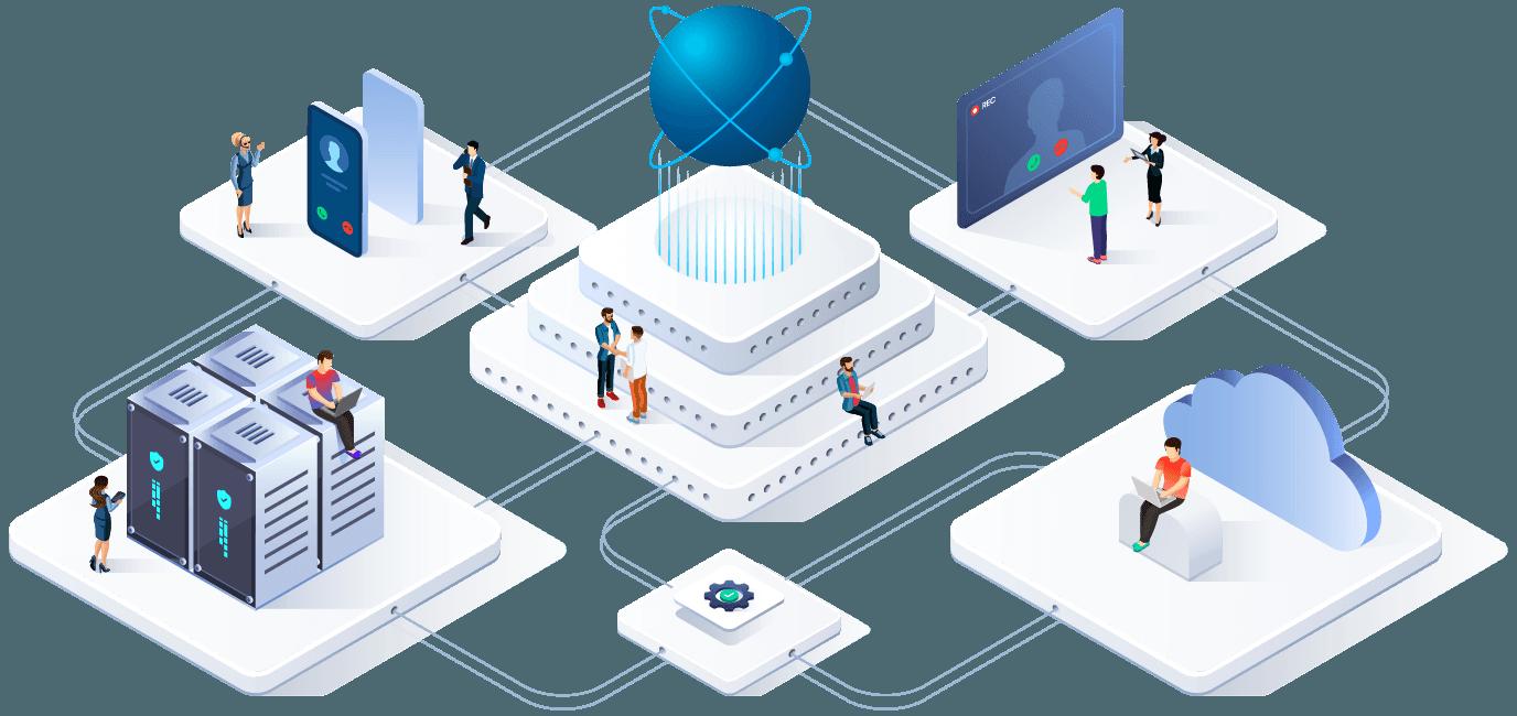 Illustration Netzwerk and UC