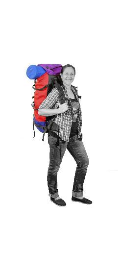 Jeanette mit Rucksack