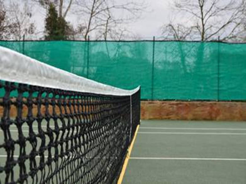 Tennisnet double topmesh, fibreglass