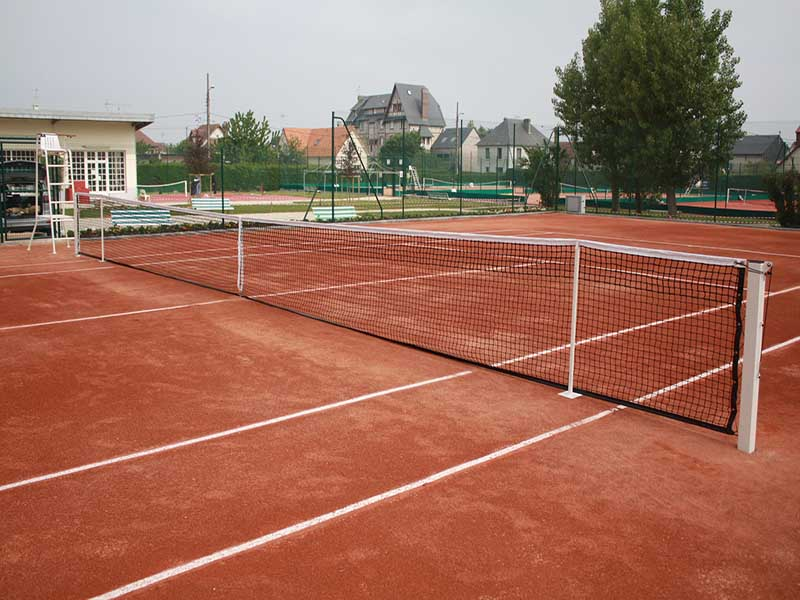 Tennisnet double topmesh, band