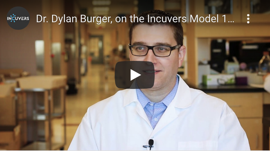 Dr. Dylan Burger, on the Incuvers Model 1 Tri-Gas Incubator