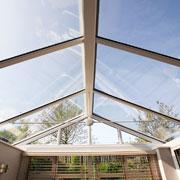 Inside a PVCu Conservatory