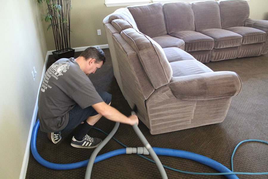 upholstery cleaning in a brentwood home
